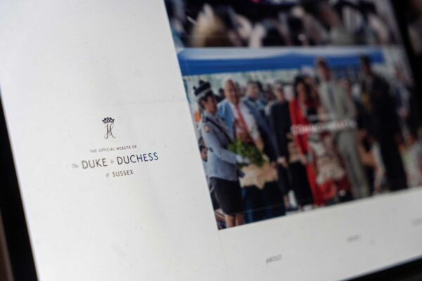 Official Website Page Duke and Duchess of Sussex