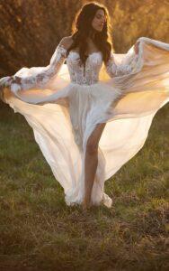 Bon Bon Belle Bridal Store | All Who Wander Finn long sleeve Bridal Gown | Burlington, WI