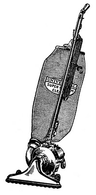 An old-fashioned vacuum cleaner.