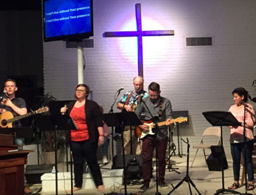 Chris Burge and friends worship with Mill Valley Fellowship