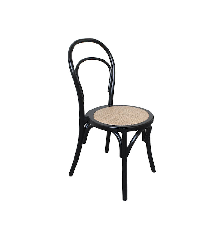 black cain seat dining chair