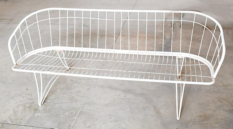metal outdoor sofa