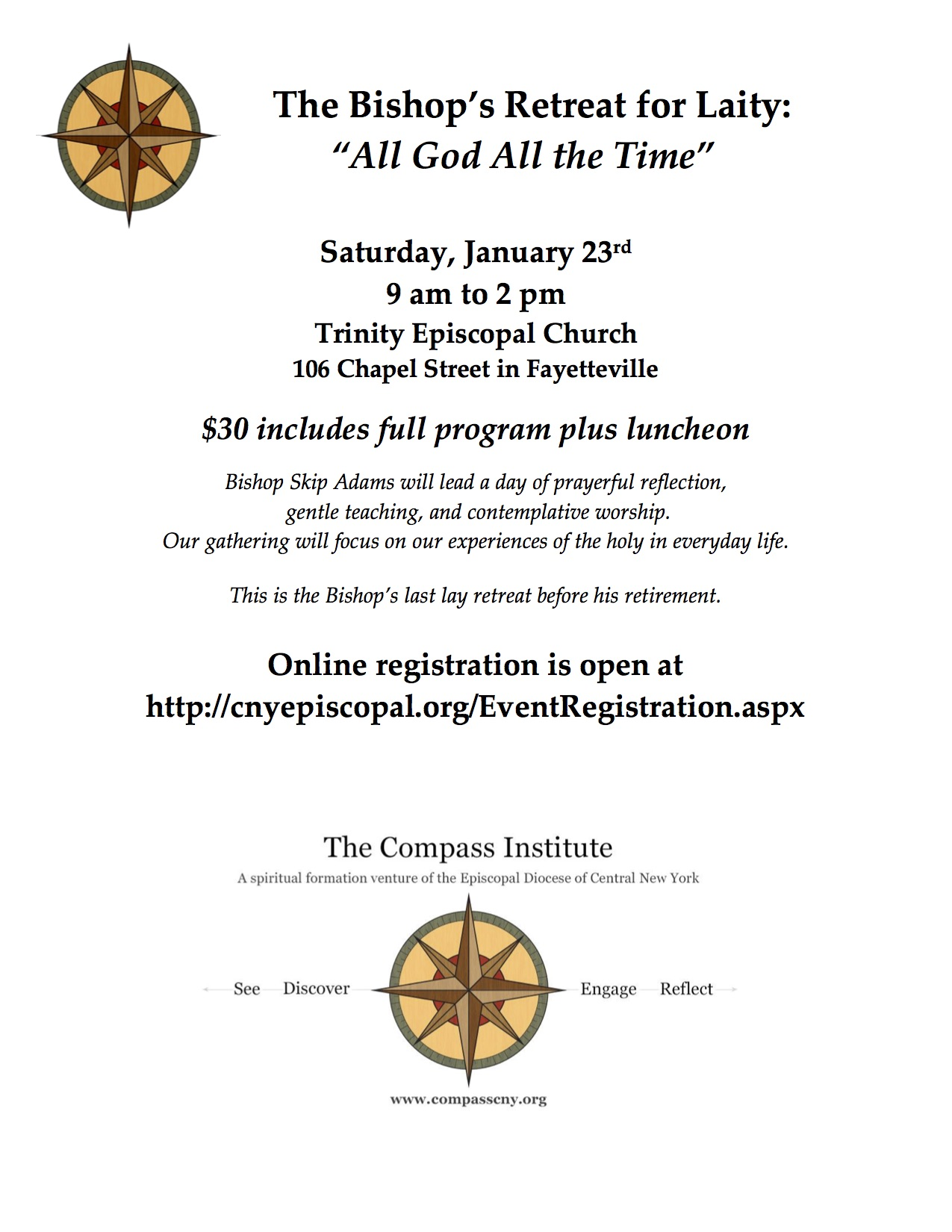 All God All the Time - 2015 Lenten Retreat - Flyer copy