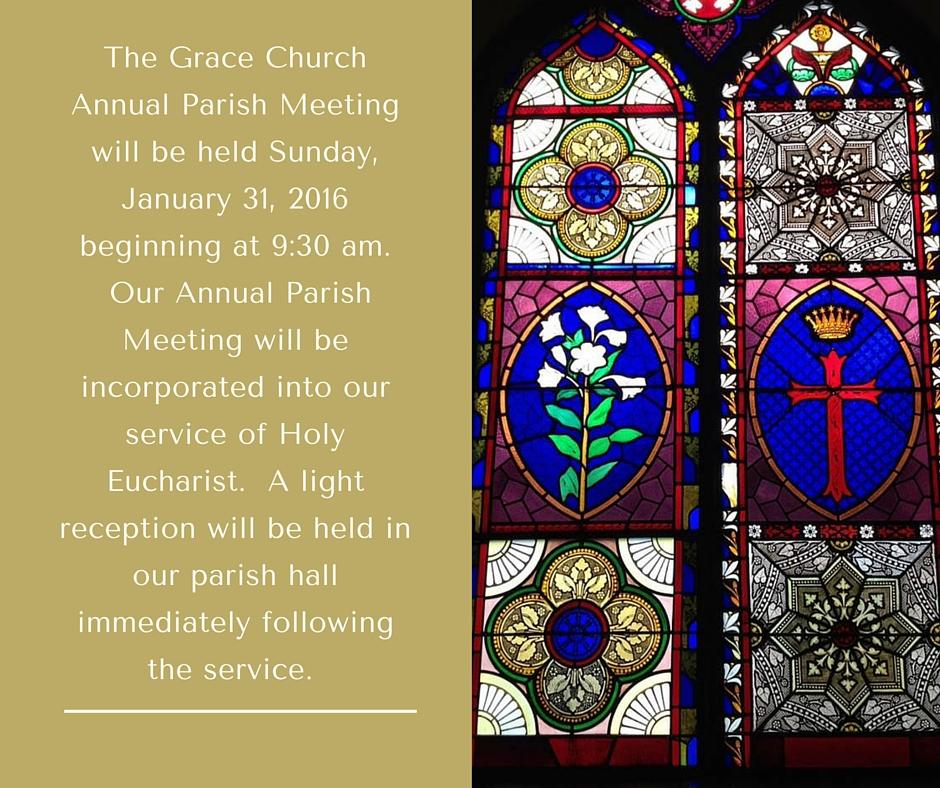 Grace Annual Meeting Announcment