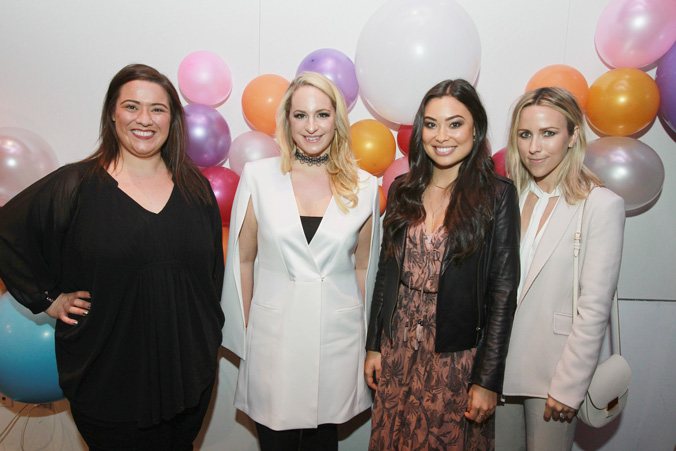 From left, Bethany Heitman, Holly Nichols, Kat Tanita and Jacey Duprie are seen at the Simply Stylist New York Fashion and Beauty Conference at YOTEL on Saturday, Nov. 5, 2016, in New York City. (Photo by Soul Brother)