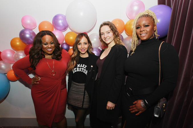 Denise Caldwell, Lilliana Vazquez, Gwendolyn Floyd and Claire Sulmers are seen at the Simply Stylist New York Fashion and Beauty Conference at YOTEL on Saturday, Nov. 5, 2016, in New York City. (Photo by Soul Brother)