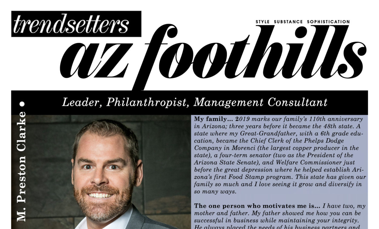 Arizona Foothills Magazine: Trendsetter Profile