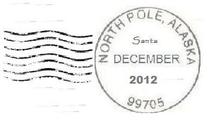 North Pole postmark