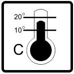 Shipping Symbols - Thermometer