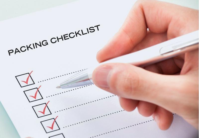Packing Checklist