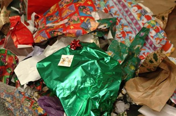 Shipping Supplies from Holiday Trash