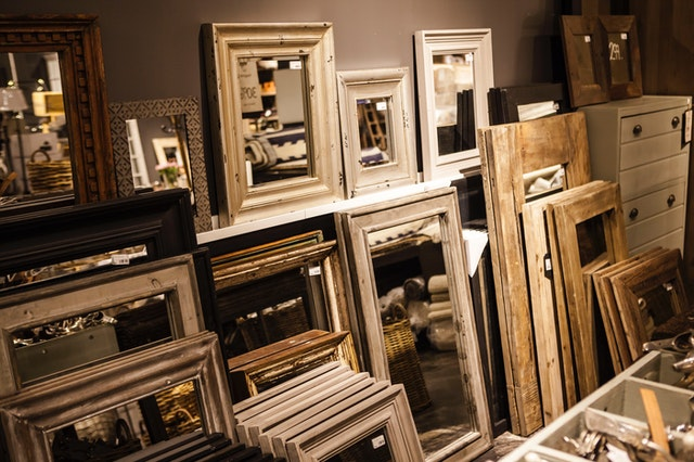 shipping antique framed mirrors