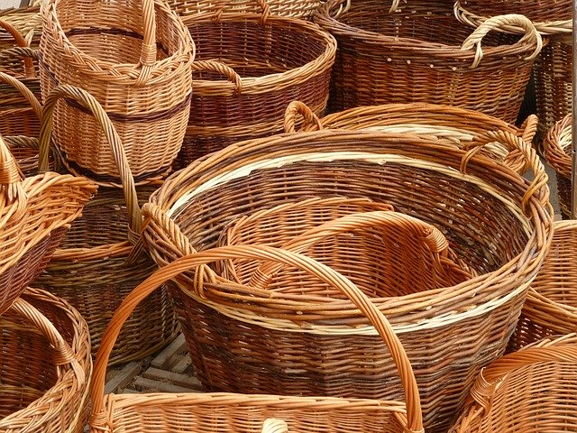 shipping wicker baskets