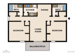 The Pine Floor Plan Web Newly renovated apartments in Homewood