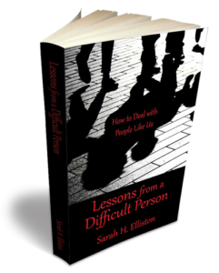 Lessons from a difficult person -Book cover - Sarah Elliston
