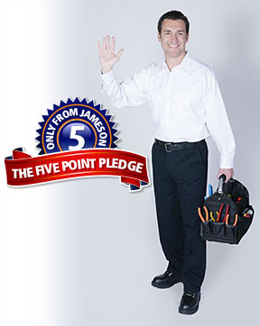 Jameson Electric, Heating, Air Conditioning 5 Point Service Pledge