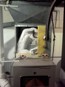 Frozen Air Conditioning Coil