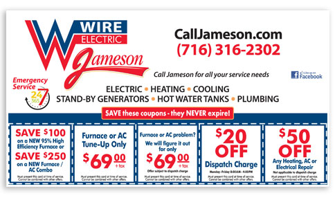 Jameson Electric Heating Air Conditioning Coupons 2016