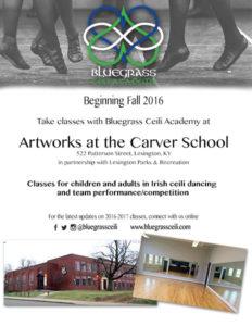 Irish dance classes in Lexington Bluegrass Ceili Academy at the Carver School