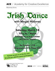 Irish Dancing in Lexington - ACE UKOT