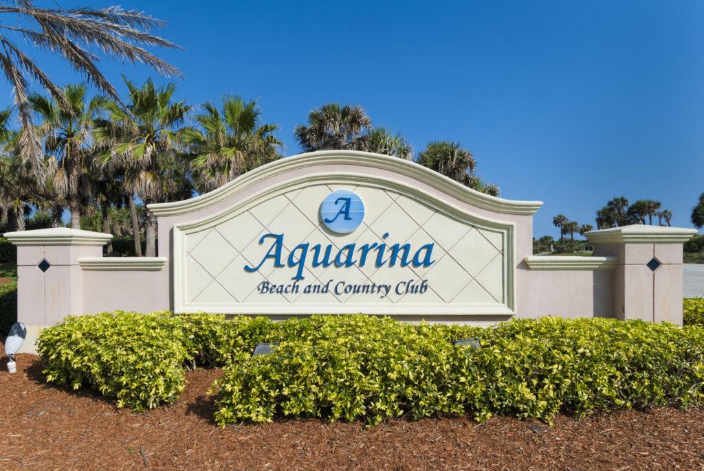 Aquarina Community Sign