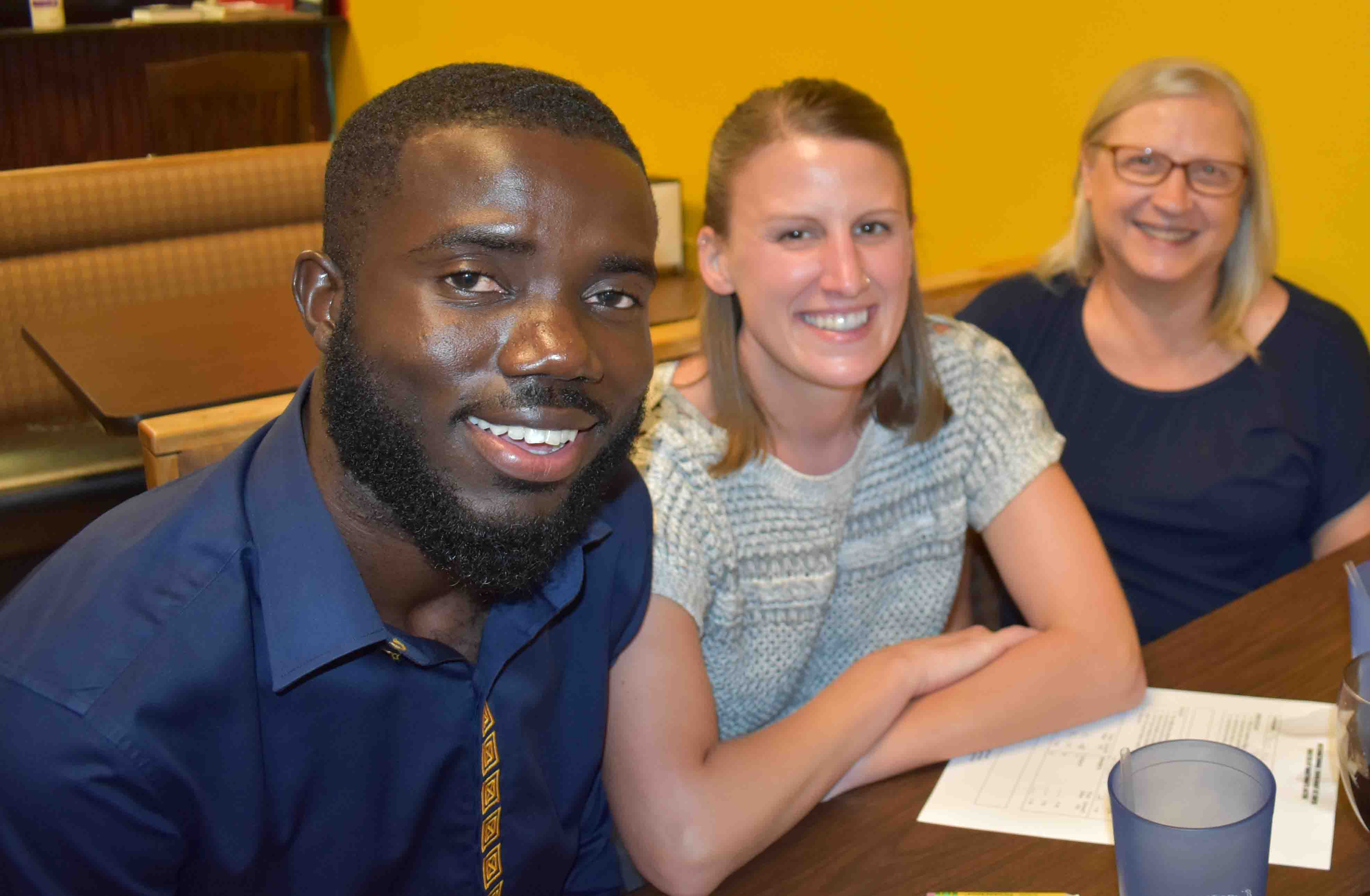 Kwame Amponsah, Lundon Pinneo, Linda Dunn