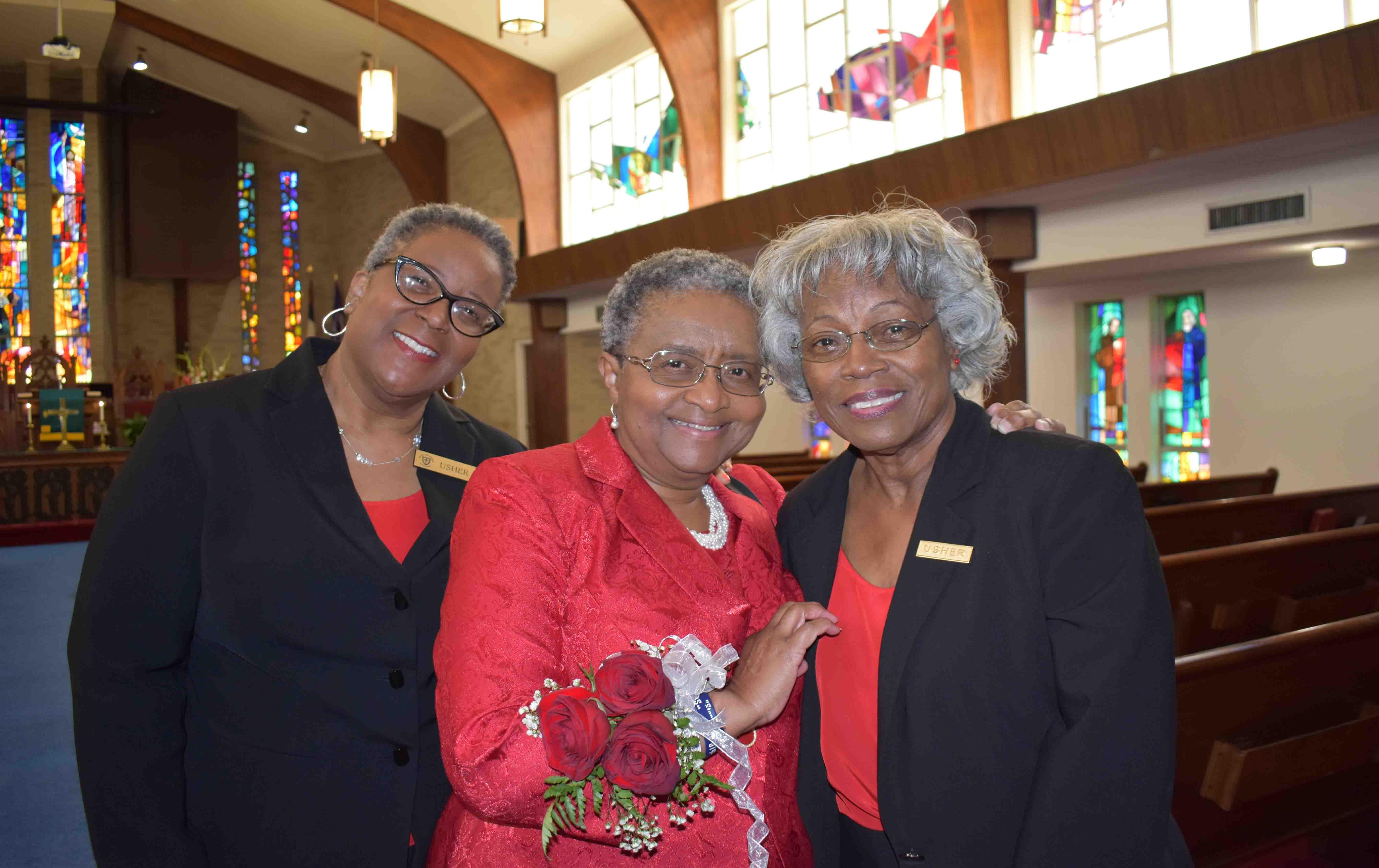 Melba Thompson, Dr. Sybil Jordan Hampton, Connie Hampton