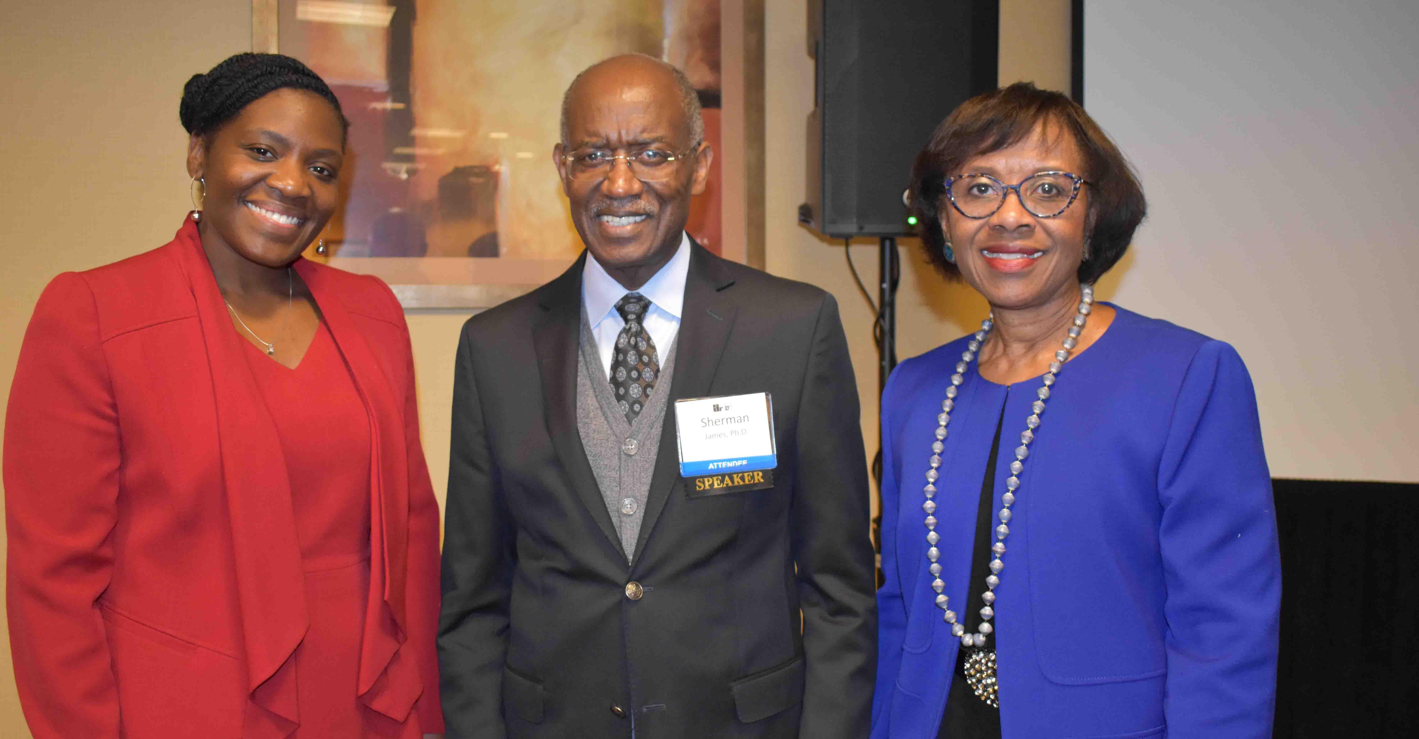 Tamika Edwards, Dr. Sherman James, Dr. Pat Griffen