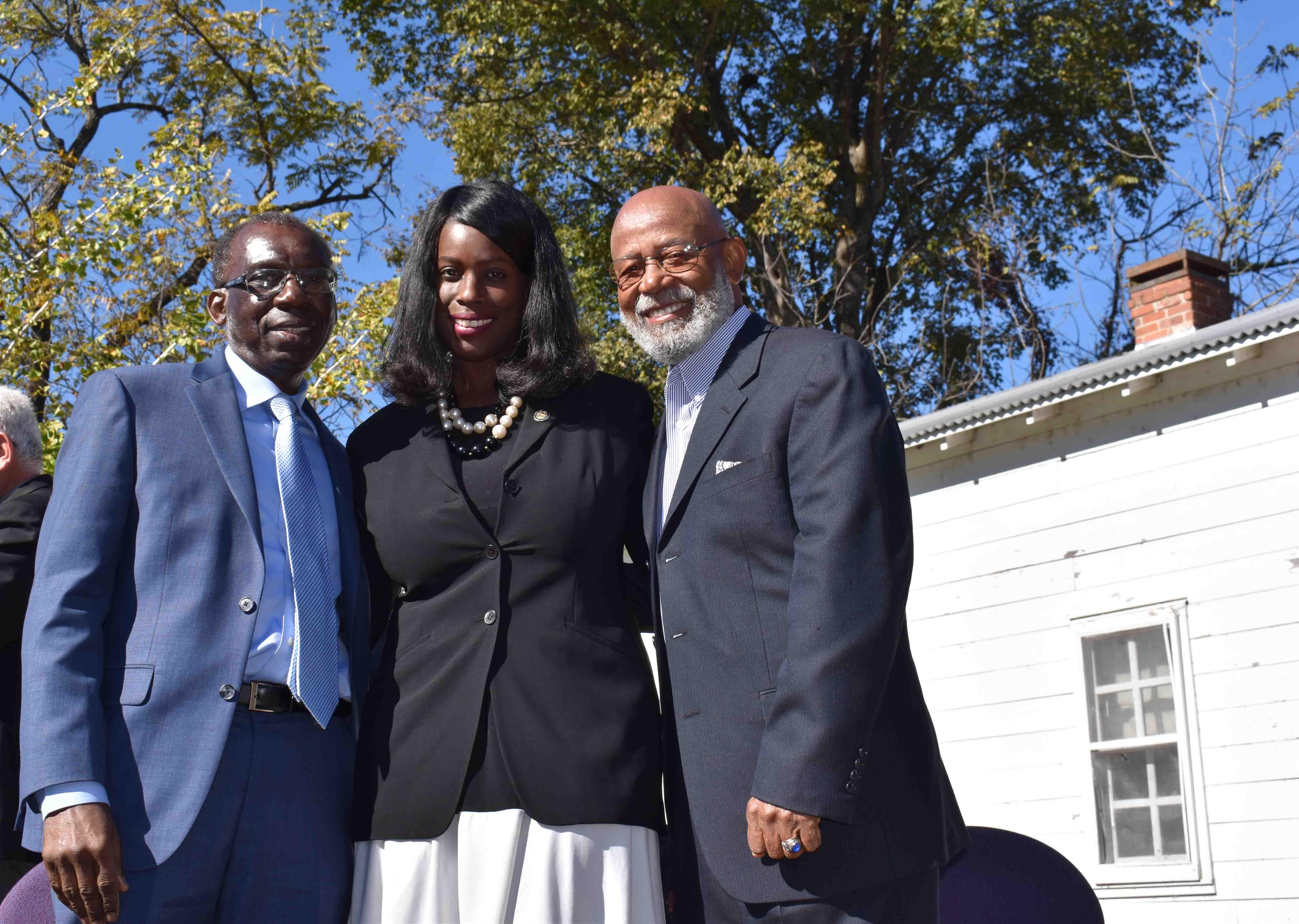 Rep. Don Glover, Kandice Bell, Hon. Dr. Calvin Johnson (Pine Bluff)