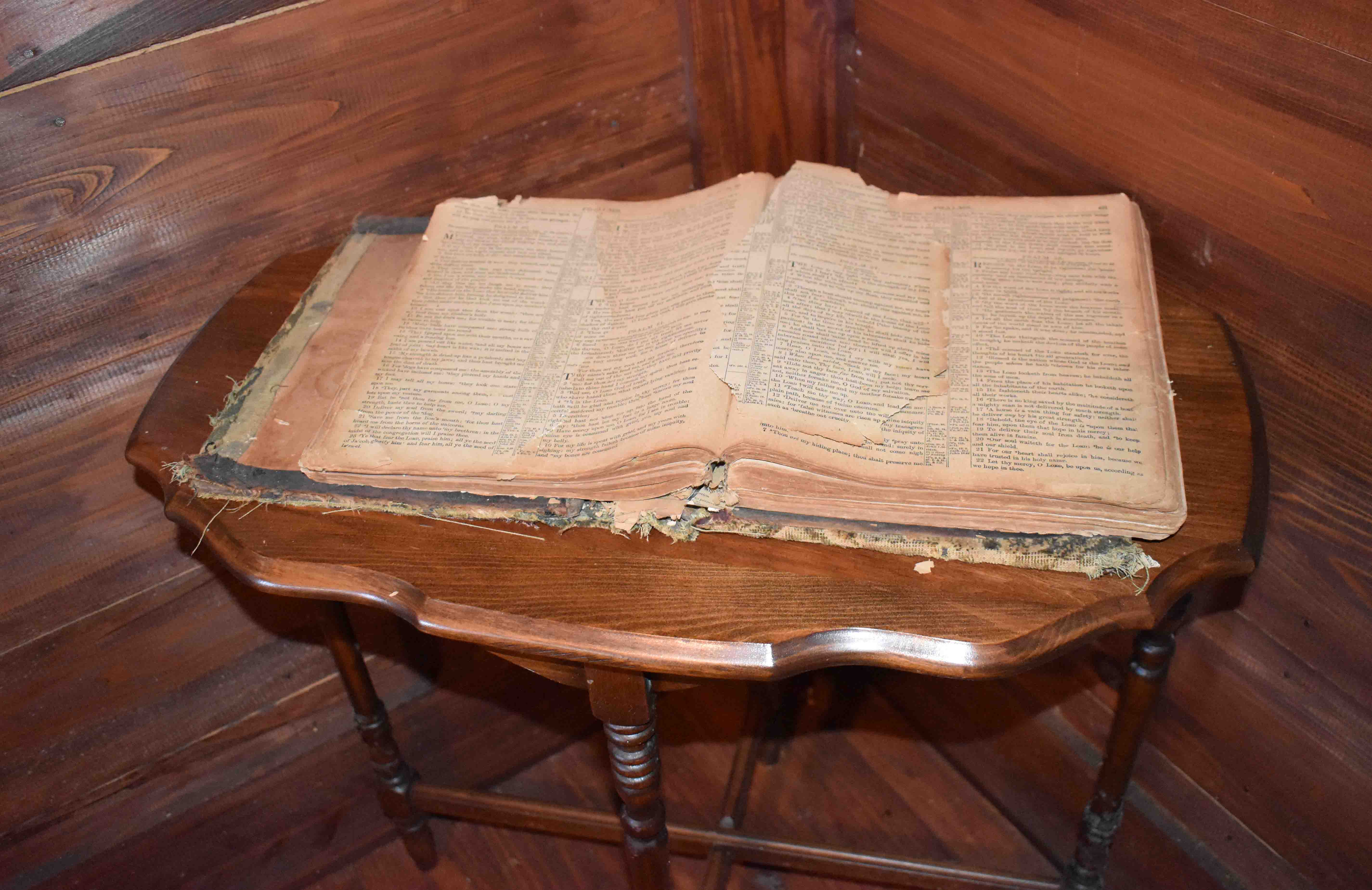 The bible in John H. Johnson's childhood home