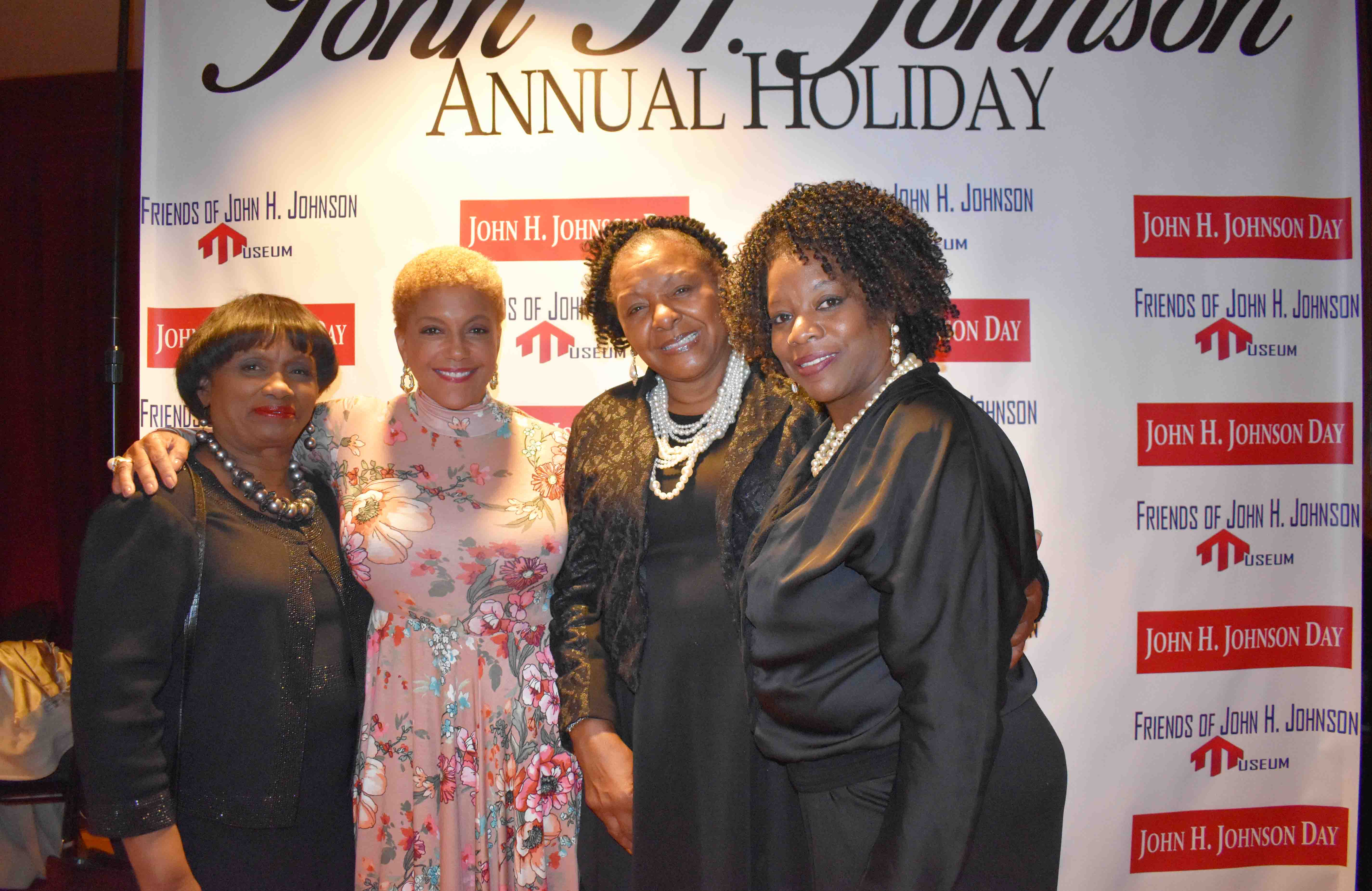Wanda Ashley, Linda Johnson Rice (daughter of John H. Johnson), Dianna Curry, Jatrina Wilson