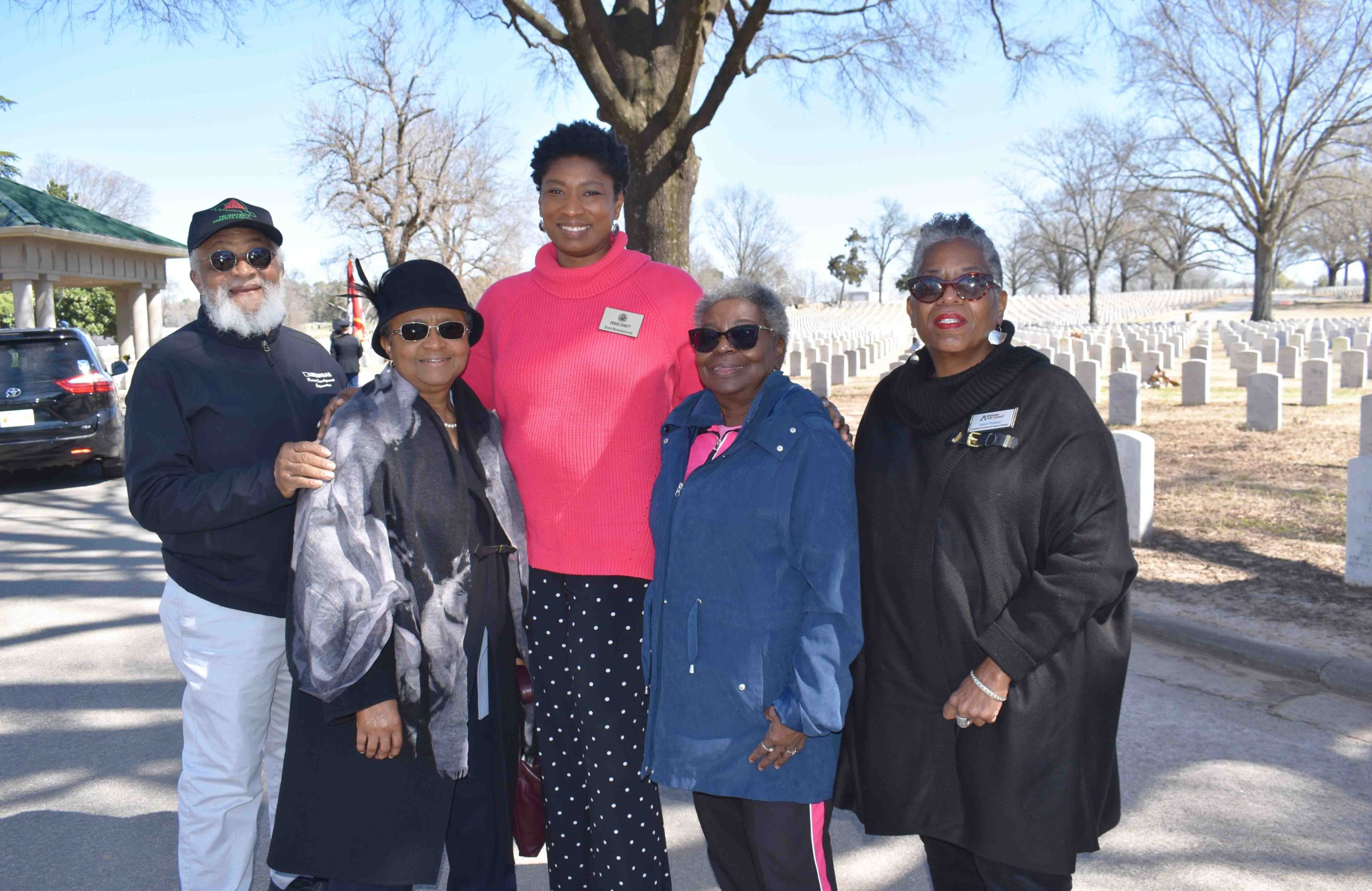 Freeman McKindra, Dr. Sybil Jordan Hampton, Rep. Denise Ennett, Dorothy Neal(great-granddaughter of Joseph Knox, Elaine 12 murder victim)
