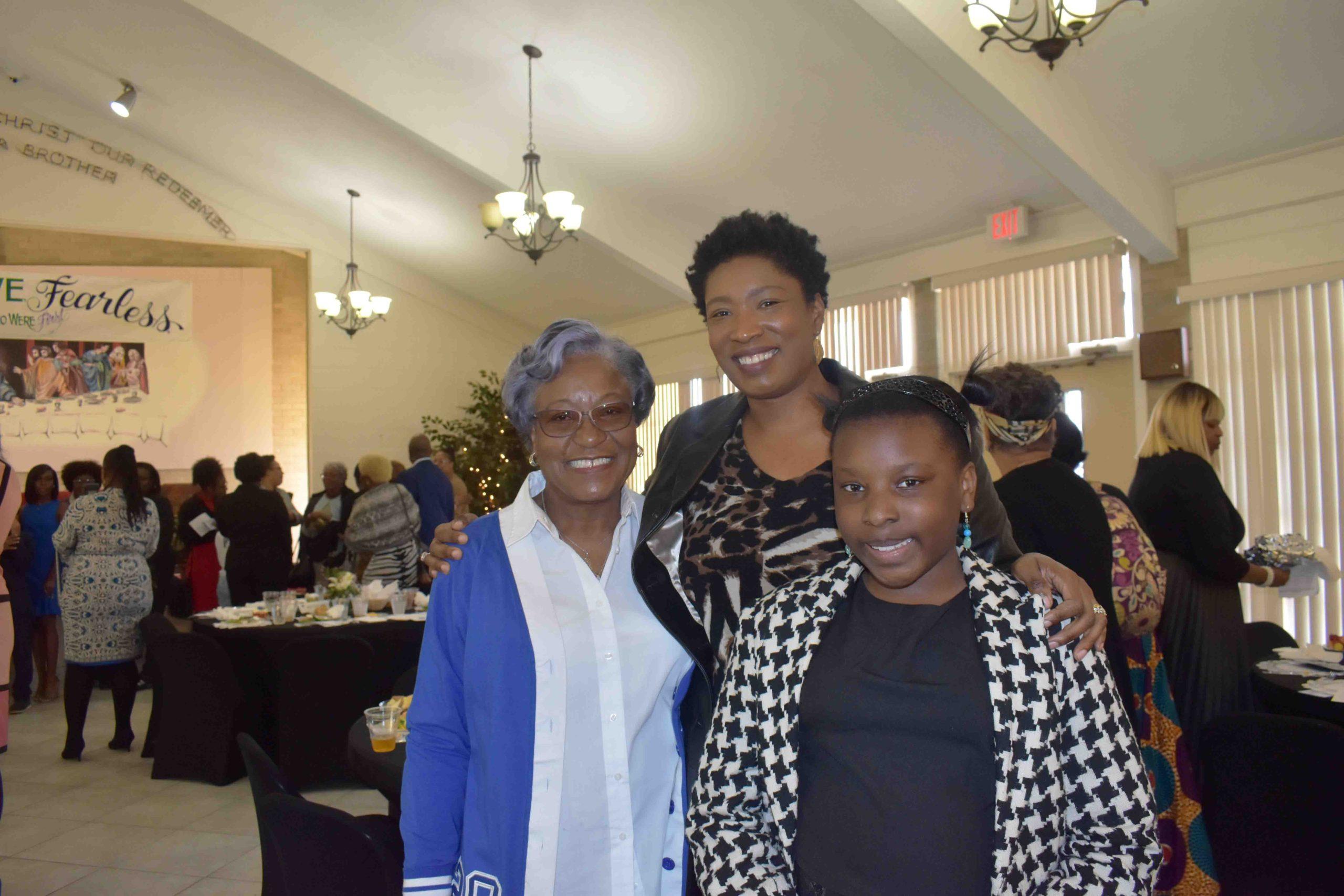 Johnnie Branch, Rep. Denise Ennett, Camille Ennett