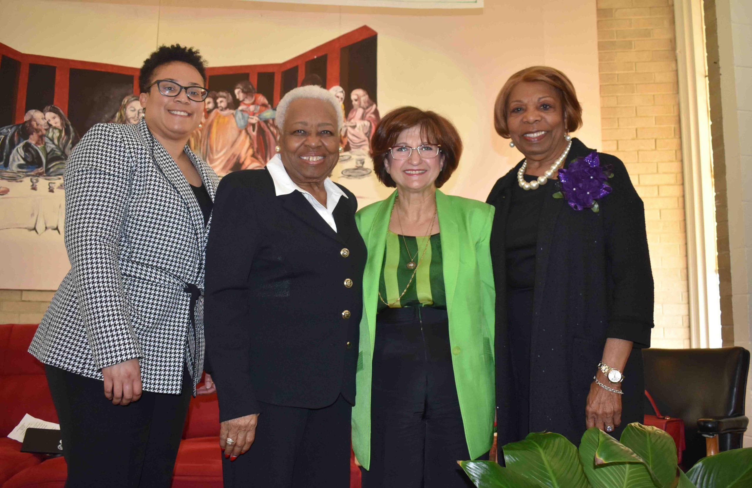 Tanisha Joe Conway (Arkansas PBS' first Black producer), Hon. Irma Hunter Brown (1st black female elected to the AR House of Representatives and the Arkansas Senate), Jamileh Kamran (1st female to own a fashion school), Hon. Lottie Shackleford (1st female Mayor of Little Rock)