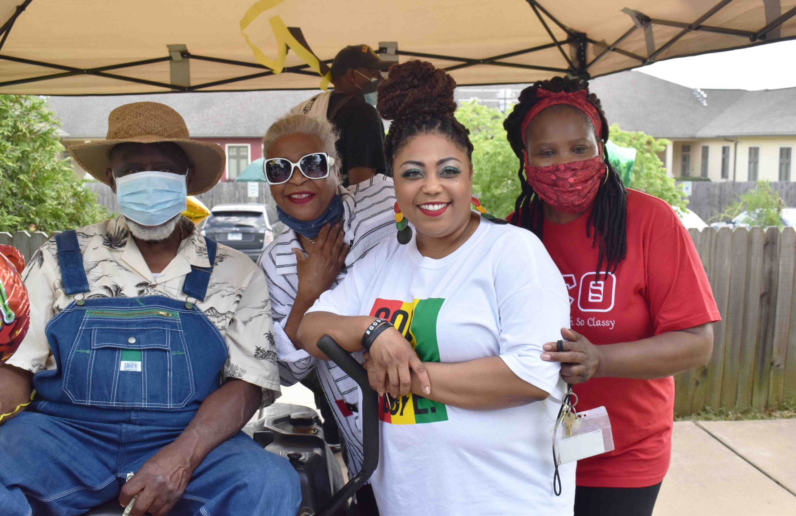 Rev. Dr. William 'Paw Paw' Robinson, Jr., Dr. Laureen Isom, Tori Robinson-Pippens, Jeanette Donald
