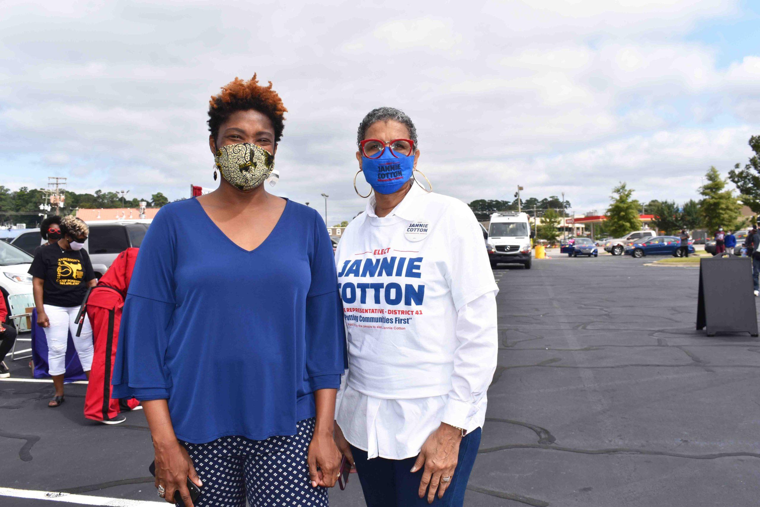 State Rep. Denise Ennett, Janie Cotton