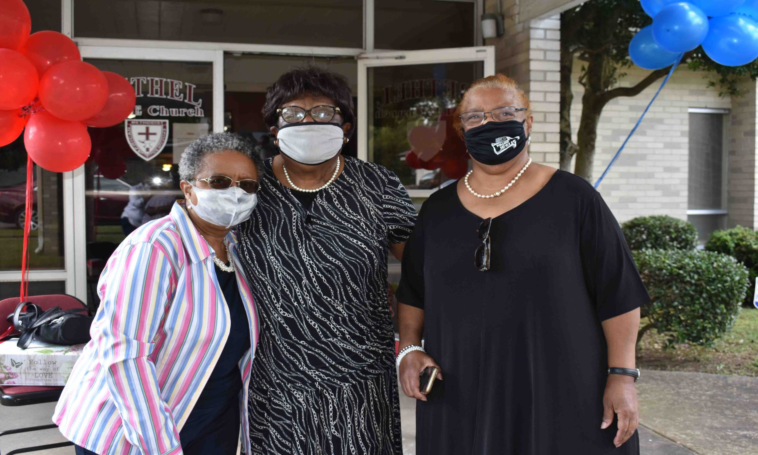 Dr. Sybil Jordan Hampton, Virginia Burkes, Rev. Edna Mack Pettigrew