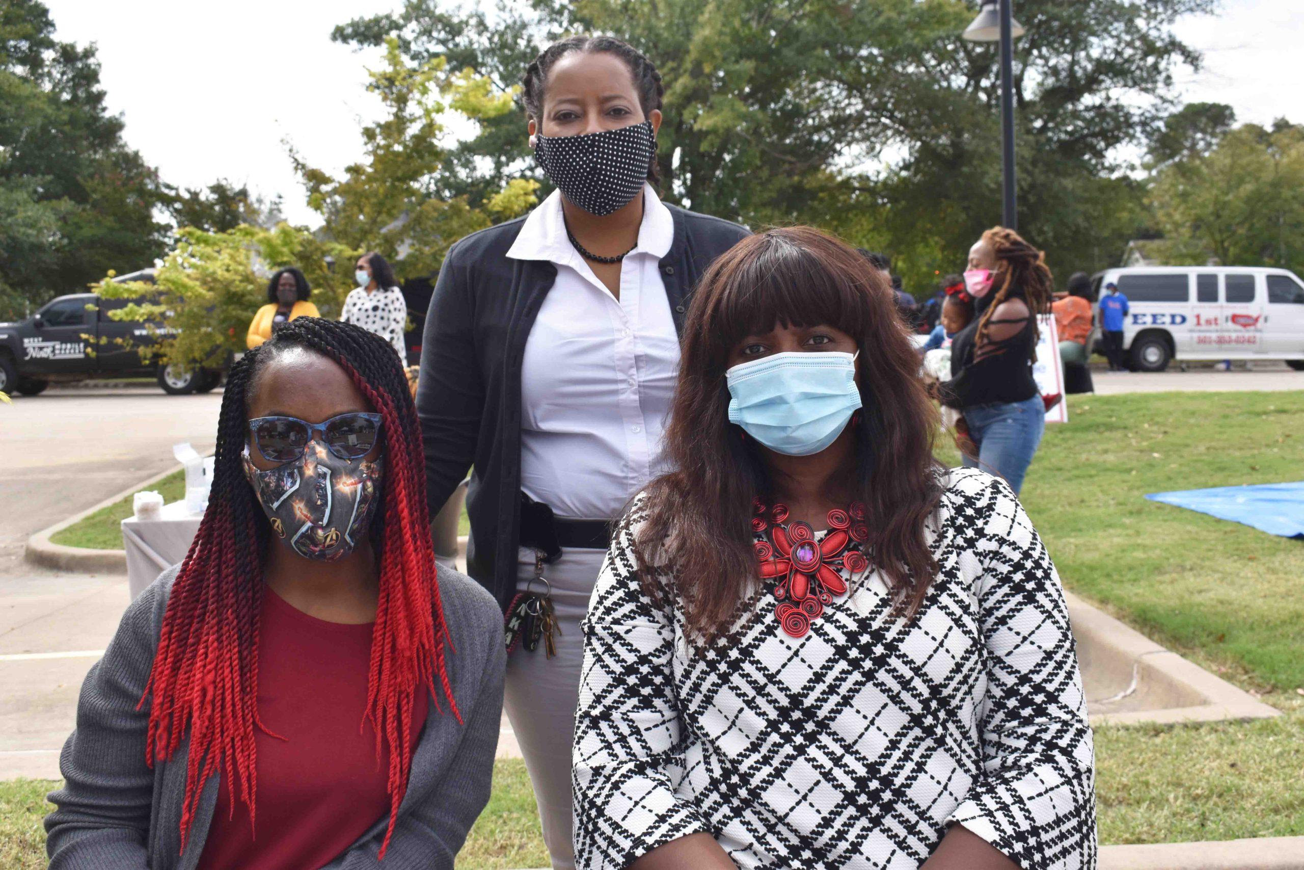 Jayla Shodds, Dr. Carla Morris, Robin Cline