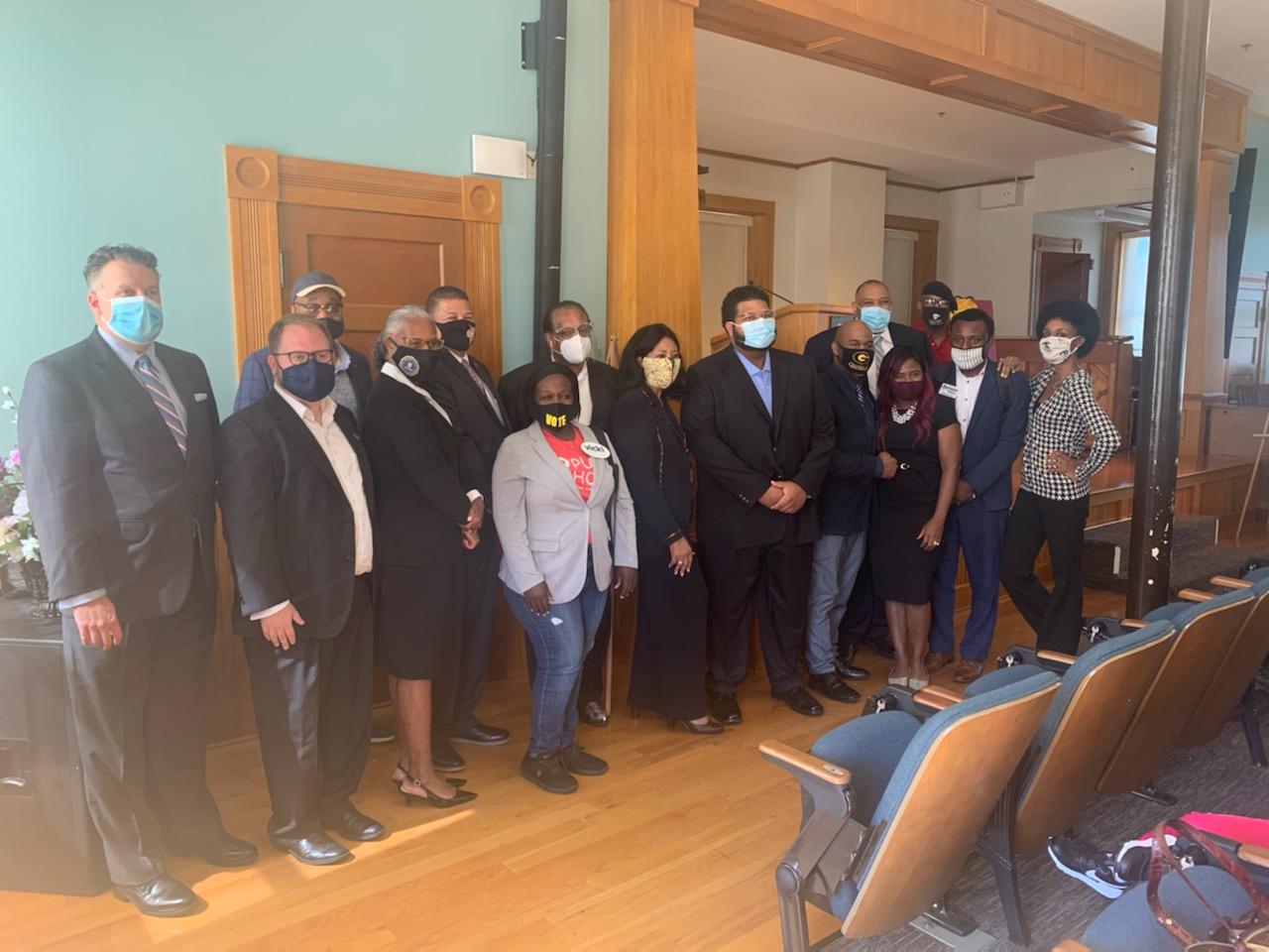 Derek Olivier's Research Institute (DORI) at Arkansas Baptist College program participants and guests