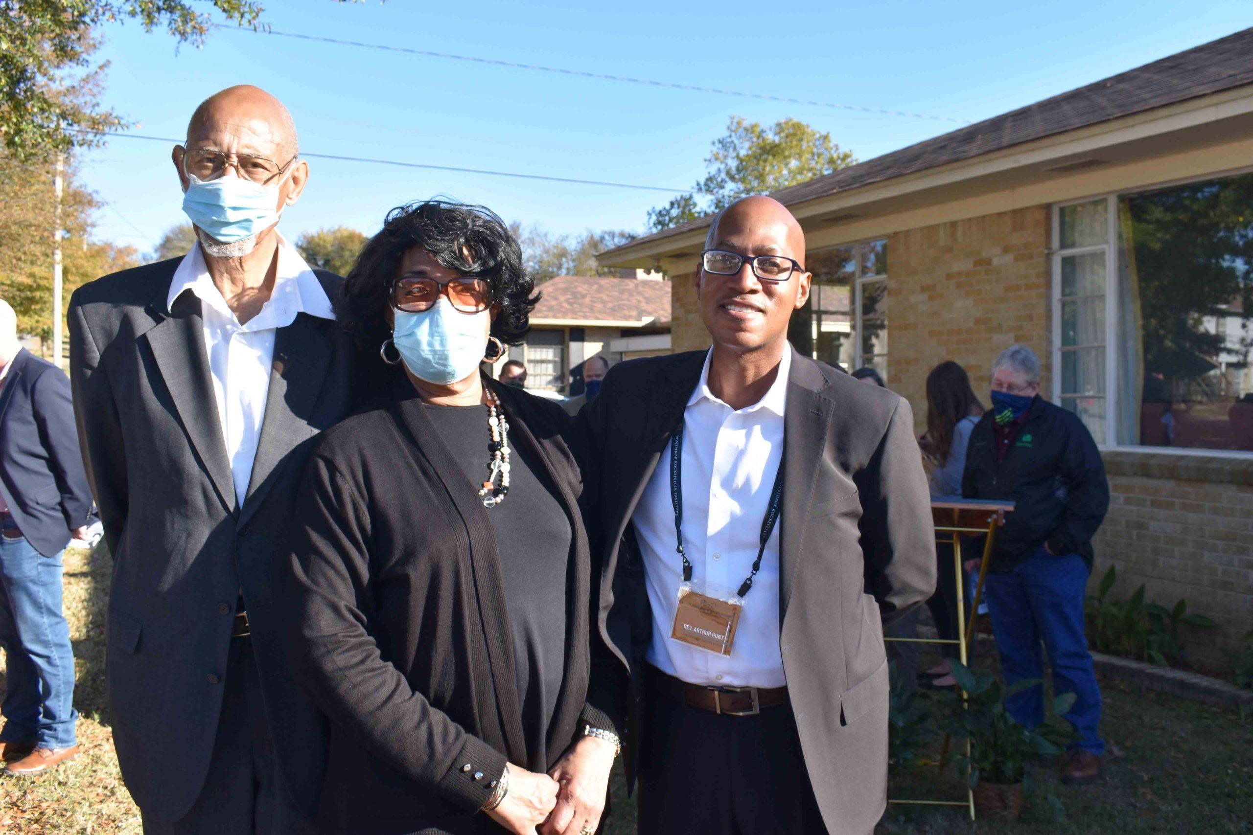 Dale and Dianne Charles, Rev. Dr. Arthur Hunt (Dumas)