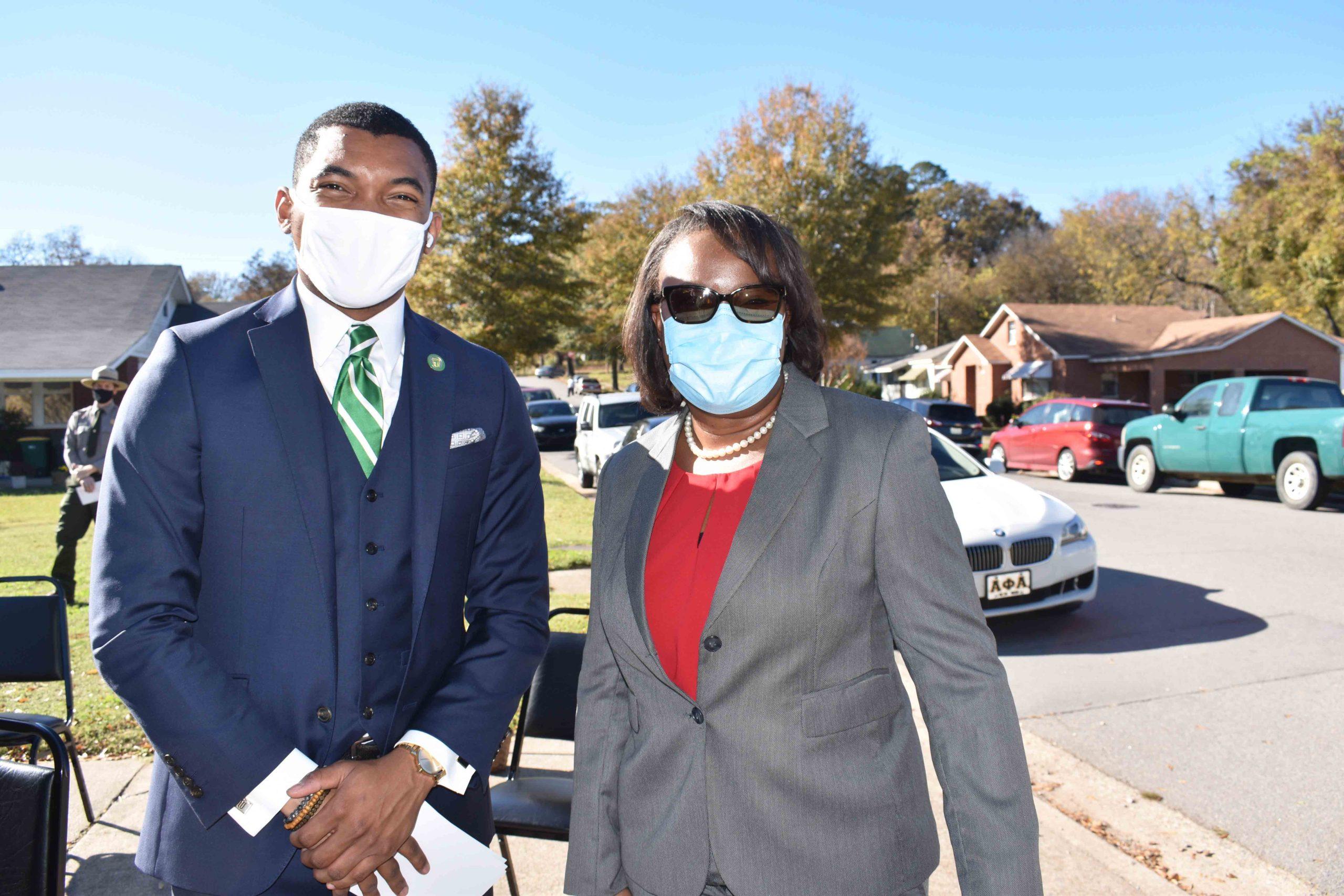 Russell Williams, III, Kimberly Thomas, Superintendent Strong-Huttig School District