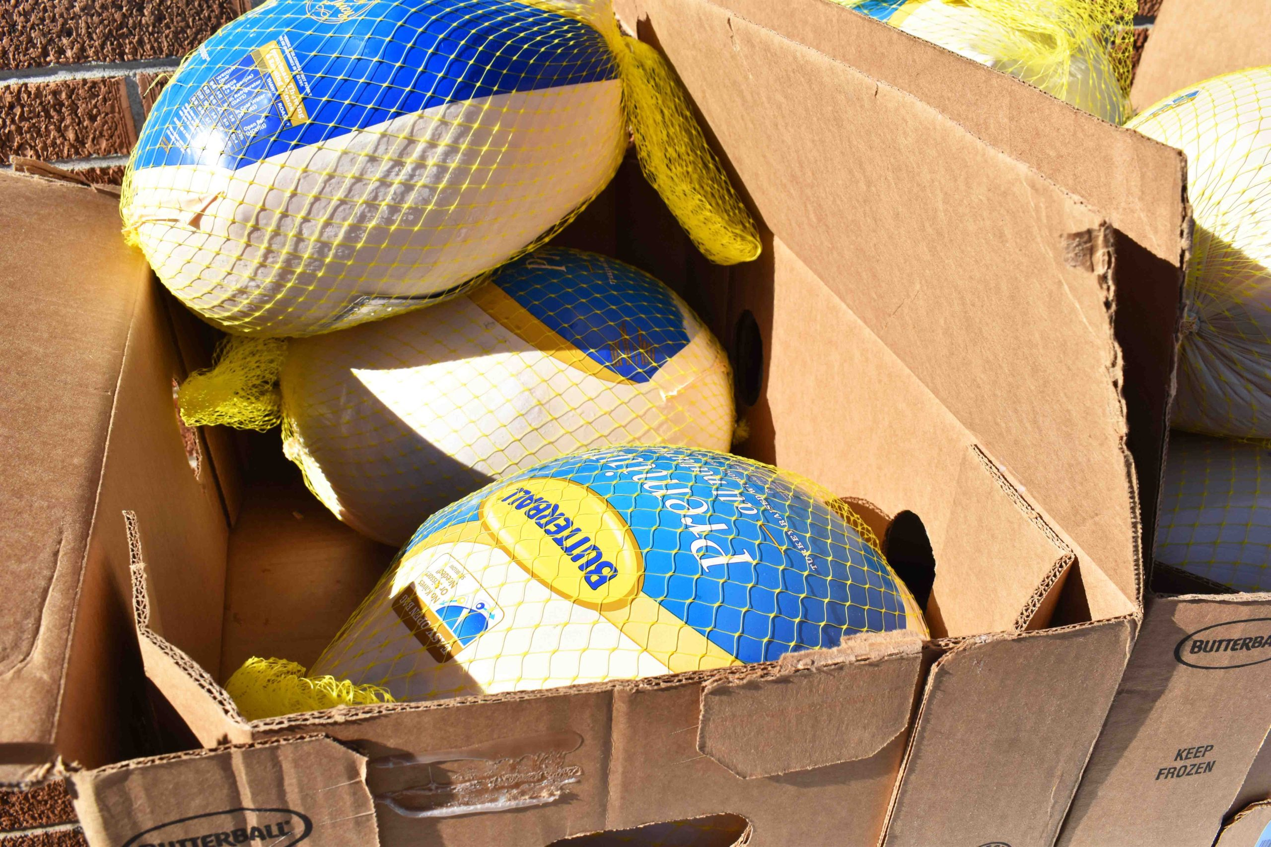 Turkeys for low-income families