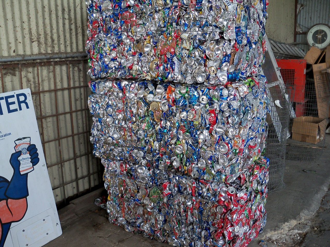 Stack of Aluminum cans