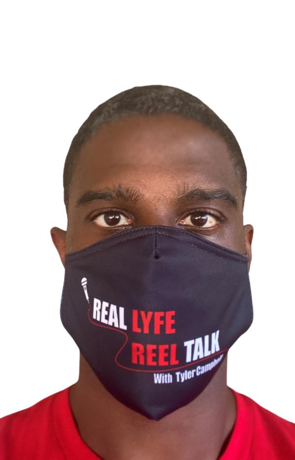 Tyler Campbell Wearing Real Lyfe Reel Talk Mask