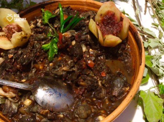 Hongo de maíz frito de Rosalinda García. Chichimecas, San Luis de la Paz