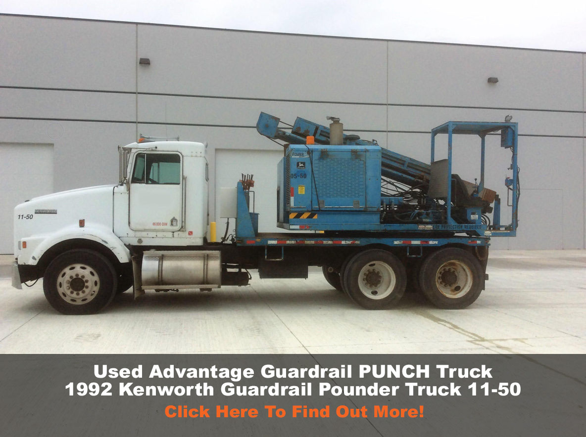 1992 ken worth guardrail pound truck 11-50