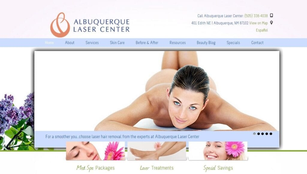 Laser Center Spa Website