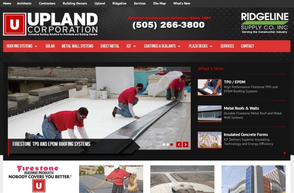 Roofing Supply Website