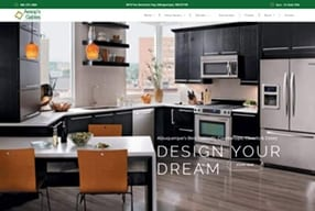 Cabinet Company Website designed by XtraMark