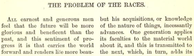 The Problem of the Races – John H. Van Evrie, 1867